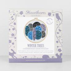 winter tree crossstich kit